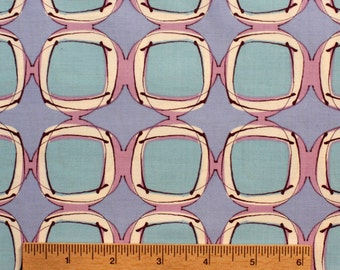 Kathy Davis Journey Sew Square KD01 purple blue aqua white rows lines geometric whimsical sewing quilting 100% cotton fabric by the yard
