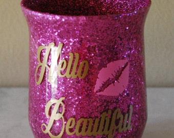 Make up brush vase, Cosmetic Brush Holder, Make up brush holder, Pencil holder, Make up brush organizer, Glitter Makeup brush holder