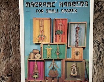 Vintage macrame hangers for small spaces book