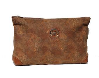 Italian Nina Ricci Brown Clutch Bag