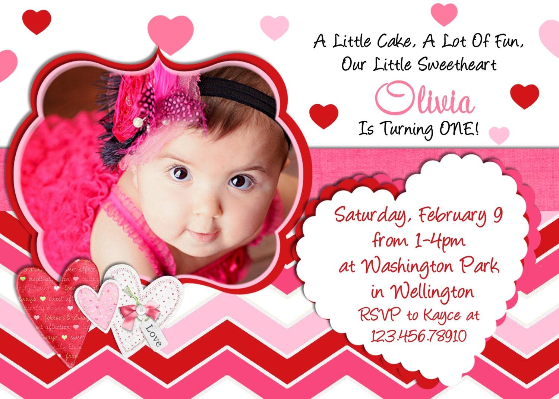 Valentine birthday invitation 1st birthday valentines day zoom stopboris Gallery