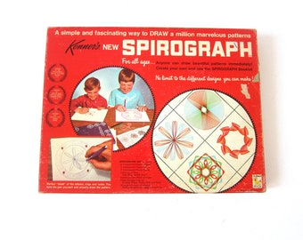 Vintage COMPLETE Kenner's Spriograph set 1967 Spirograph No. 401 in Box Retro Art Toy