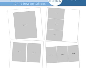 12 x 12 Simple Squares Storyboards (Set 2) for Photographers