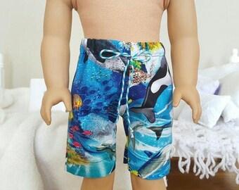 18 inch boy doll swim trunks.
