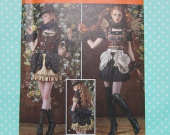 CheapestShipping Steampunk Costume Pattern. Simplicity 8075. Size:14-22. Dress and Bustle Pattern. Arkivestry Pattern. New.