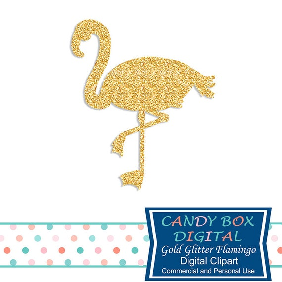 gold glitter flamingo clipart tropical bird clip art commercial rh etsystudio com glitter clipart border glitter clipart free