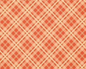 Denyse Schmidt CDDS003 Chicopee Simple Plaid Red Corduroy Cotton Fabric By Yd