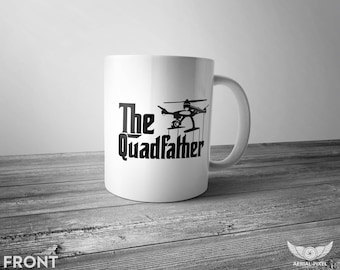 The Quadfather Yuneec Version - 11oz Coffee Mug for Aerial Photographers and Drone Pilots