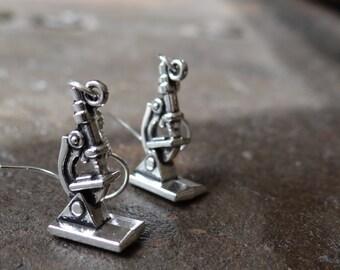 Microscope Earrings