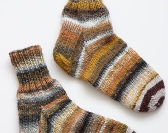 Hand-knitted Wool Socks HONEYCOMB By VidaFelt - Size 39-41 - Free Shipping!