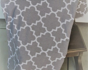 Gray & White Geometric Lattice Baby Wrap/Carrier