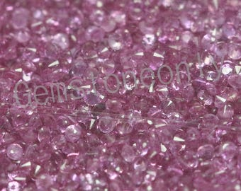 Natural Pink Sapphire - 1.4mm Cut Round Calibrated Size  Top Quality - Pink Color - Loose Gemstone