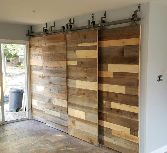 Custom Sliding Barn Door, Reclaimed Stacked Pattern From LaeLeeDesigns On  Etsy Studio