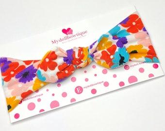 Headband, stretch headband, flowers,