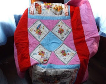 Handmade Coordinating Twin Size Quilts  for Owners/Pets or Children/Dolls