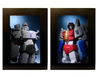 Transformers Toys Framed Photo Set Megatron and Starscream