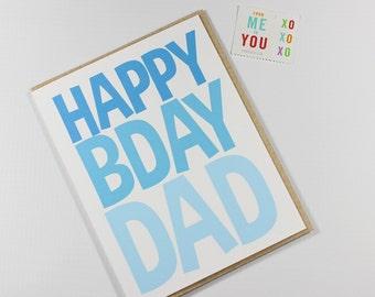 Birthday Card - Dad Birthday Card - Men's Birthday Card - Happy Birthday Dad