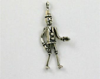 Sterling Silver 3-D Movable Tin Man Charm