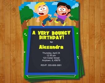Trampoline Party Invitation - printable birthday invite for a Trampoline Birthday Party