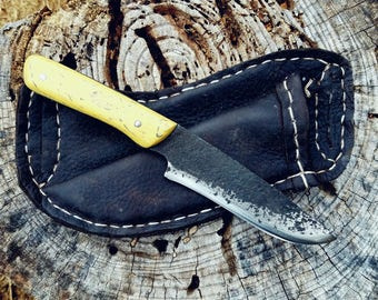Dinosaur Bone Knife with Angled Belt Slide Sheath