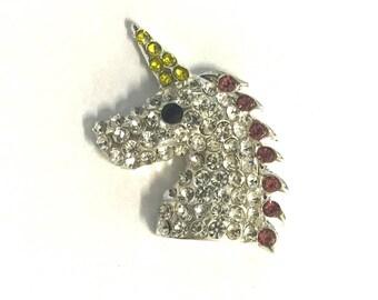 Unicorn Rhinestone, Unicorn Metal Rhinestone, Unicorn Embellishment, Flatback Rhinestone Embellishment, Rhinestone, Embellishment, 30mm 24mm