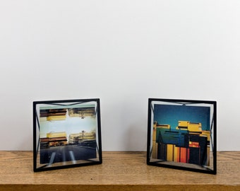 Photo Frame Digital Urban Glitch Mobile Art print photo frame Minimal geometric
