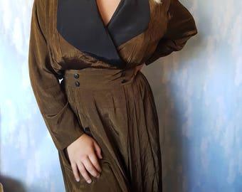 80's Striking metallic stripe dress