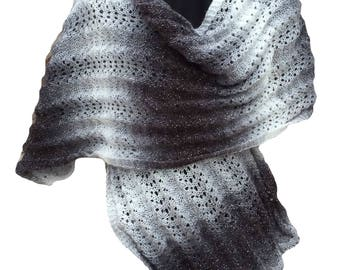 Shawl/Wide Scarf Knitting Kit - Colour Shadow