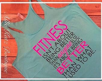 Racerback Workout women's tank Fitness Motivational