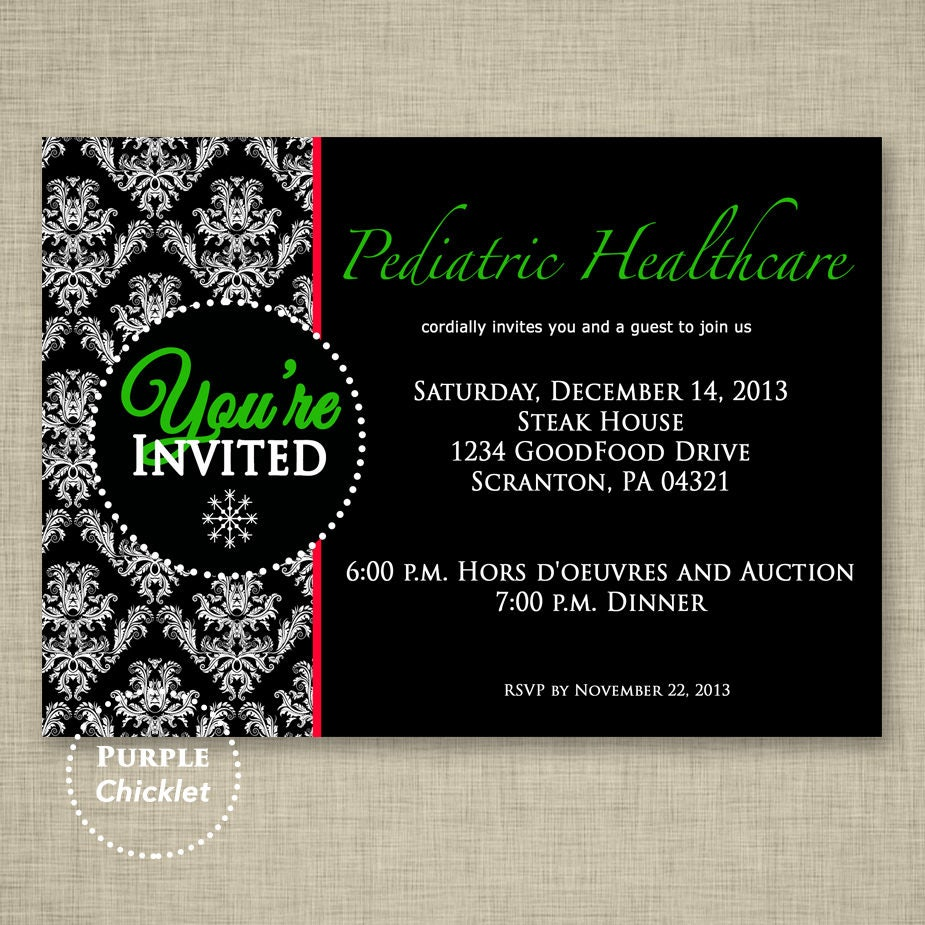 Office Party Holiday Invitation Elegant Christmas Party Invite