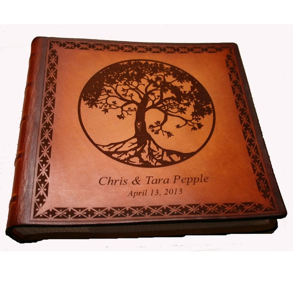 Tree of Life Anniversary Photo Album by Sonshine Leather