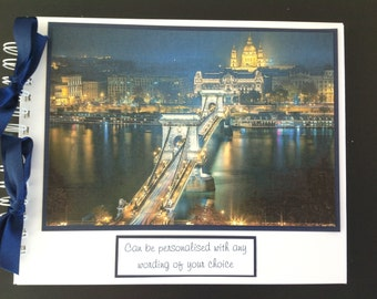 "Personalised BUDAPEST  Holiday Travel - Photo Album - Scrapbook - Memories Book - Photo Book 10"" x 8"""