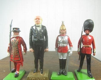 Metal Toy soldier,britains Ltd., Royal Guard, black, red, Van Buren,collectible toy, English soldier,England,miniature people,miniatures