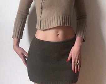 Benetton Wool Mini Skirt