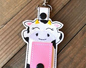 Cow Cord Organizer, Cow Ear Bud Holder, Earbud Holder, Cow Ear Bud Wrap, Earphone Holder, Cow Cord Wrap Keychain