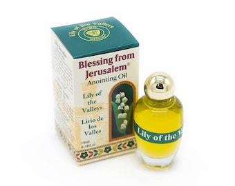 Anointing Oil Lily Of The Valleys 0.34oz From Holyland Jerusalem