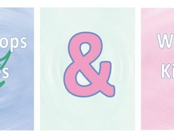 My Favorite Things Wall Nursery Art, Raindrops on Roses, Whiskers on Kittens