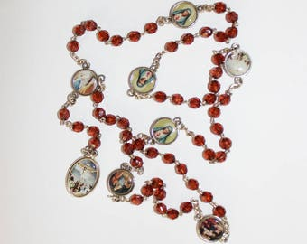 Servite rosary Our Lady of The seven sorrows Brown beads mater dolorosa chaplet of seven sorrrows dolor rosary