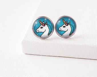 Unicorn earrings studs Unicorn stud earrings Unicorn gift for women Unicorn lover gift Unicorn wedding gift Unicorn bridesmaid gift