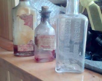 Antique Medicine Vermont Medicine Bottles