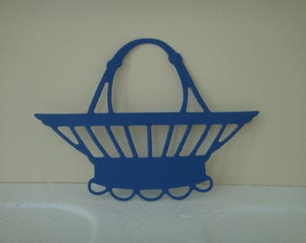 Basket cut Navy 7 cm in height for scrapbooking and card
