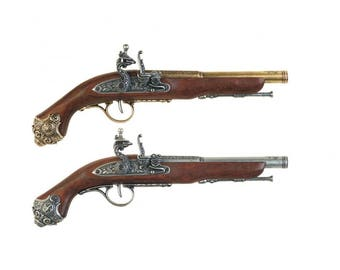 Colonial 18th Century Flintlock with Ornate Butt