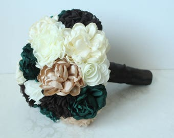 Wedding Fabric Brooch Bouquet /  Brooch Bouquet / Made to Order