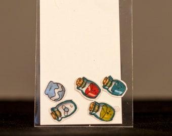 5 pack Legend of Zelda Wind Waker Bottles Hand-Drawn Stickers