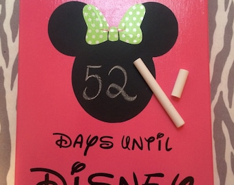 Disney Countdown, DAYS UNTIL DISNEY, Chalkboard, count down to Disney