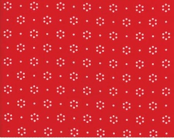 The Good Life Red Floral Dots 55152 11 by Bonnie & Camille for Moda