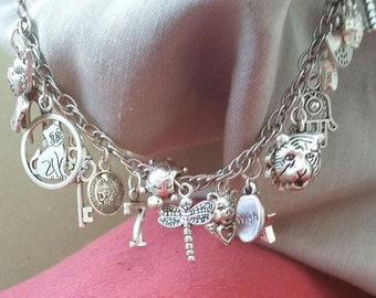 Lots and lots of luck, charm bracelet. Are you lucky? Would you like lots of luck? International luck on a chain.