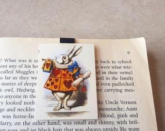 Court Jester Rabbit - Alice in Wonderland magnetic bookmark