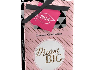 Graduation Favor Boxes - Personalized 2018 Graduation Party Supplies - Graduation Treat Boxes - Set of 12 Dream Big Favor Boxes