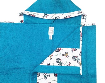 Retro Bicycles Hooded Towel